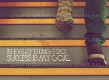 Success Is My Goal Inspirational Quote Graphic