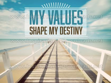 My Values Inspirational Quote Graphic