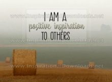 Positive Inspiration To Others Inspirational Quote Graphic