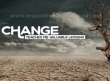 Change Teaches Me Inspirational Quote Graphic