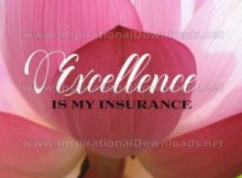 Excellence Is My Insurance Inspirational Quote Graphic