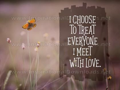 Treat Everyone With Love Inspirational Quote Graphic