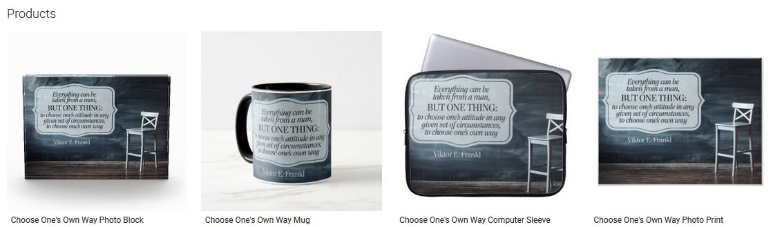 Choose One's Own Way Inspirational Quote Graphic Customized Products