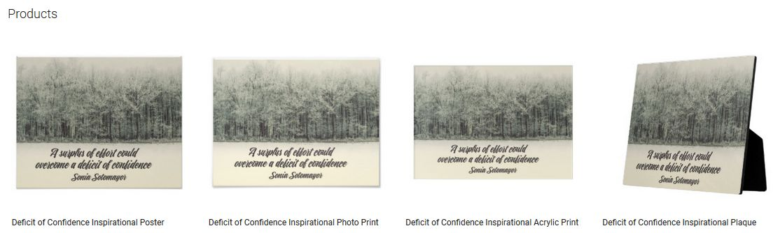 Deficit Of Confidence Inspirational Quote Graphic Customized Products