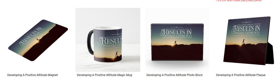 Developing A Positive Attitude Inspirational Quote Graphic Customized Products