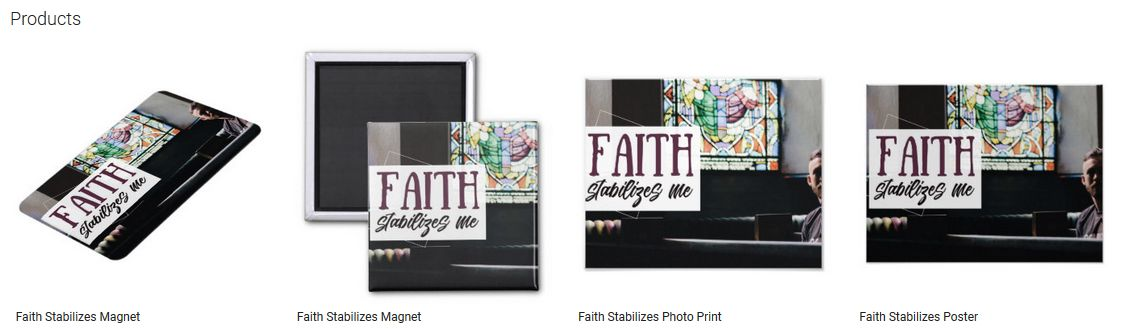 Faith Stabilizes Inspirational Quote Graphic Customized Products