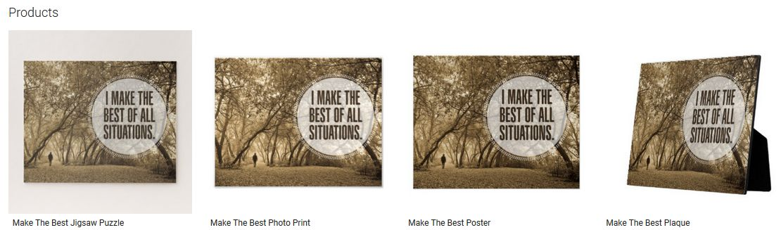 Make The Best Inspirational Quote Graphic Customized Products