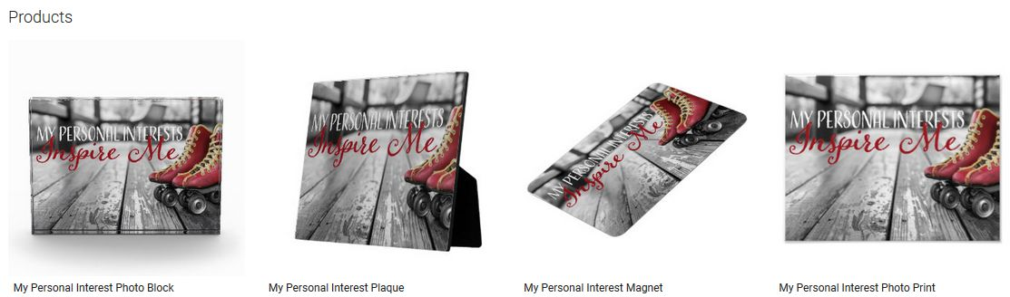 My Personal Interest Inspirational Quote Graphic Customized Products