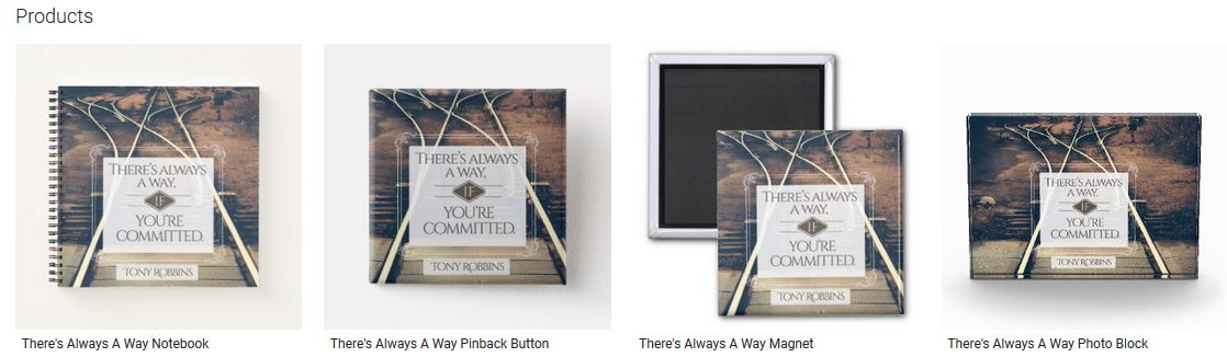 There's Always A Way Inspirational Quote Graphic Customized Products
