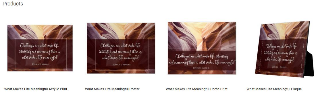 What Makes Life Meaningful Inspirational Quote Graphic Customized Products