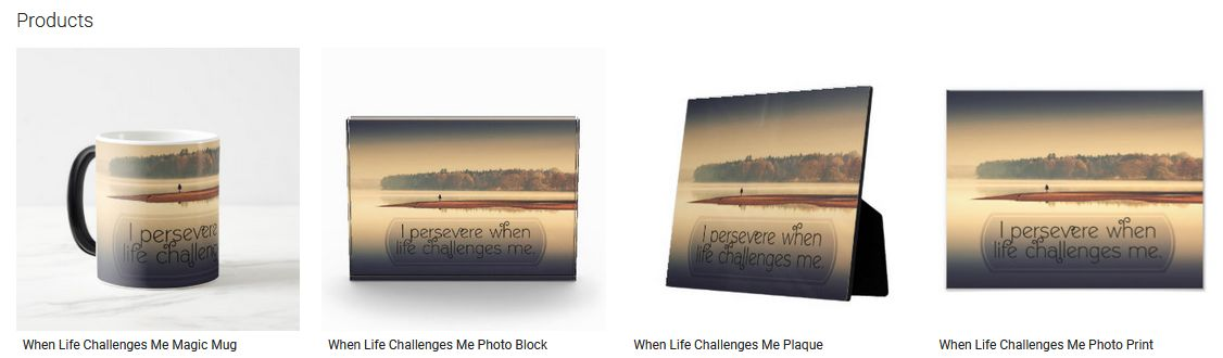 When Life Challenges Me Inspirational Quote Graphic Customized Products