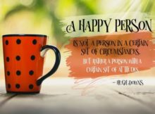 A Happy Person Inspirational Quote Graphic