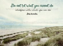What You Can Do Inspirational Quote Graphic