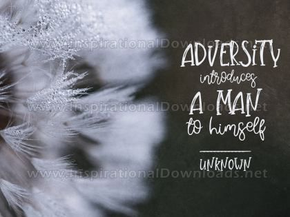 Adversity Inspirational Quote Graphic