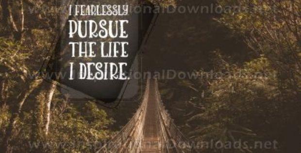 Life I Desire Inspirational Quote Graphic
