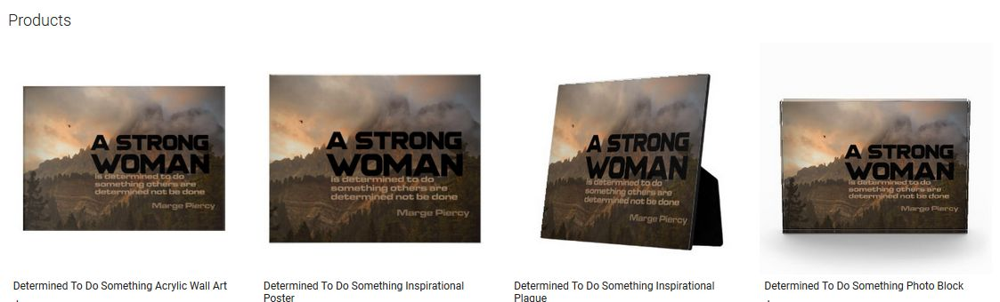 Determined To Do Something Inspirational Quote Graphic Customized Products