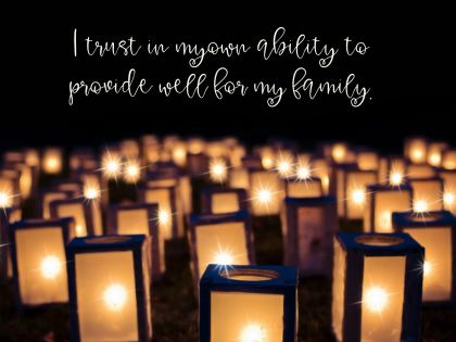 Provide Well For My Family Inspirational Quote Graphic