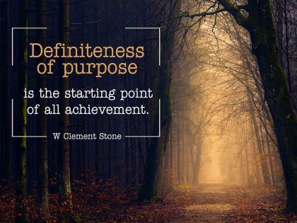 Definiteness of Purpose Inspirational Quote Graphic