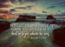 Everyone Who Got Where He Is by Richard Evans Inspirational Quote Graphic