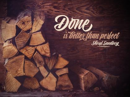 Done Is Better Than Perfect by Sheryl Sandberg Inspirational Quote Graphic