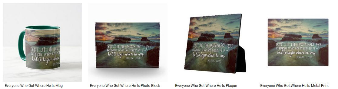 Everyone Who Got Where He Is Inspirational Quote Graphic Customized Products