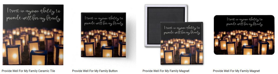 Provide Well For My Family Inspirational Quote Graphic Customized Products