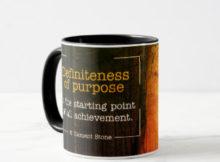 Definiteness of Purpose Inspirational Mug