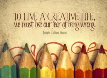 Live A Creative Life by Joseph Chilton Pearce Inspirational Graphic Quote Poster