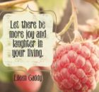 More Joy And Laughter by Eileen Caddy Inspirational Quote Graphic