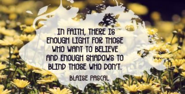 In Faith by Blaise Pascal Inspirational Quote Graphic