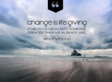 Change Is Life Giving by Unknown Author Inspirational Quote Graphic