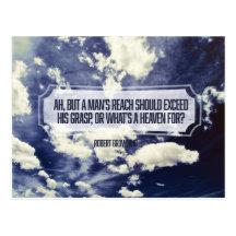 A Man's Reach by Robert Browning Inspirational Postcard (Custom Inspirational Postcard)