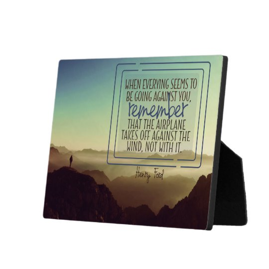 Against The Wind Inspirational Plaque (Custom Inspirational Product)