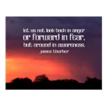 Awareness by James Thurber Inspirational Postcard (Custom Inspirational Postcard)
