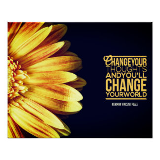 Customized Inspirational Poster: Change Your Thoughts Inspirational Poster