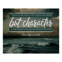 Character Is Best Formed by Johann Wolfgang von Goethe (Custom Inspirational Product)