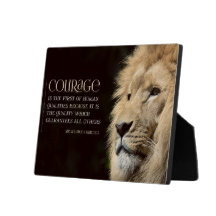 Courage Inspirational Plaque