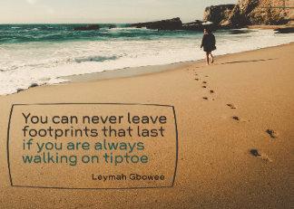 Custom Photo Block: Footprints That Last Inspirational Photo Block