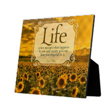 Life - How You Respond Inspirational Plaque