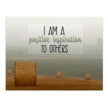 Positive Inspiration To Others Inspirational Postcard (Custom Inspirational Postcard)