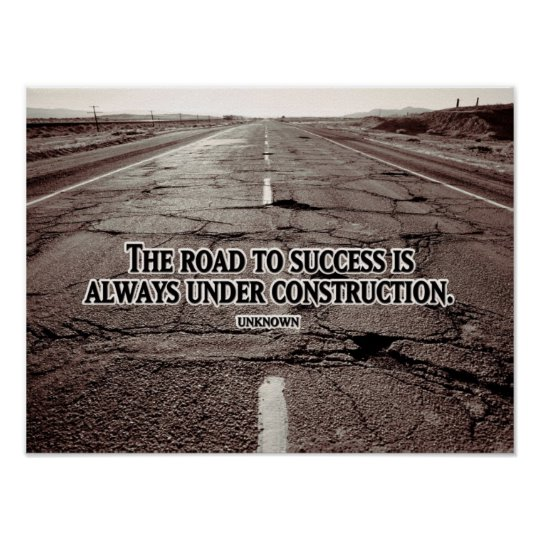 Road To Success Inspirational Poster (Custom Inspirational Product)