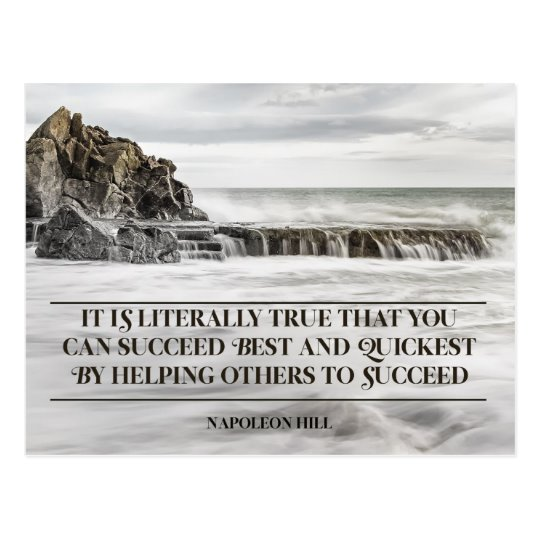 Succeed Best and Quickest Inspirational Postcard (Custom Inspirational Product