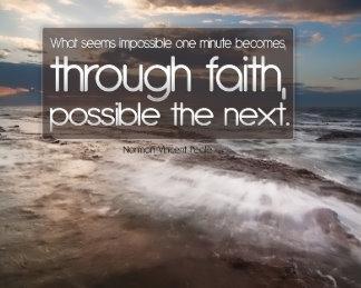 Customized Inspirational Poster: Through Faith Inspirational Poster