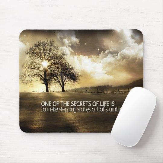 Secrets of Life Inspirational Mouse Pad (Custom Inspirational Product)