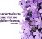 Become What You Might Have Become by George Elliot Inspirational Quote Graphic