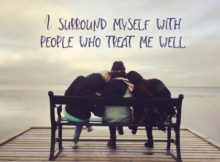 People Who Treat Me Well Inspirational Graphic Quote Poster