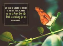 Life We've Planned by Joseph Campbell Inspirational Graphic Quote Poster