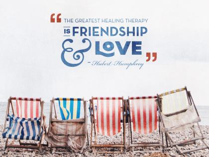 Greatest Healing Therapy by Hubert Humphrey Inspirational Graphic Quote Poster