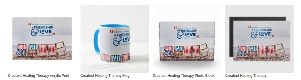 Greatest Healing Therapy by Hubert Humphrey Customized Inspirational Products