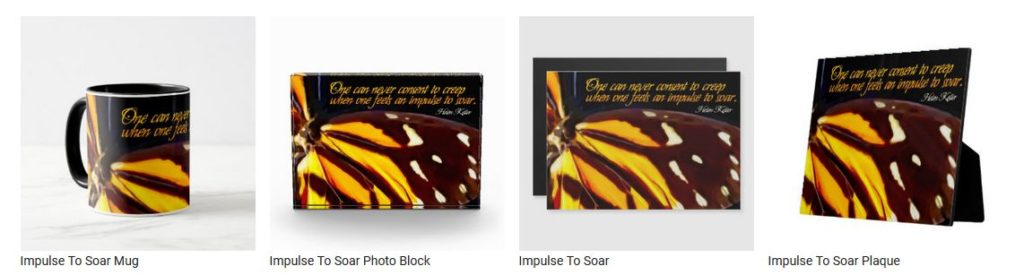 Impulse To Soar by Helen Keller Customized Inspirational Products